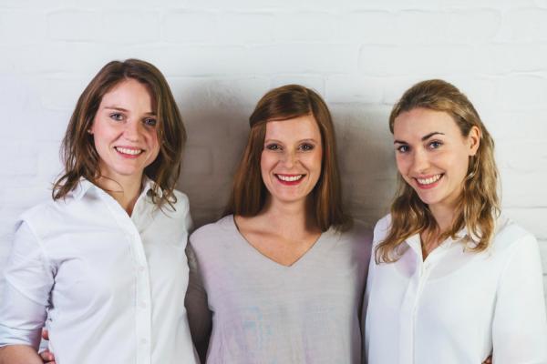 Die Selfapy Gründerinnen Katrin Bermbach, Farina Schurzfeld und Nora Blum